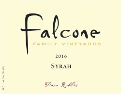 Falcone Syrah label